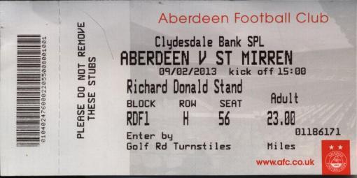 Aberdeen ticket