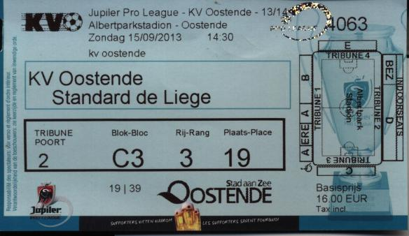 Oostende ticket