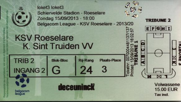 Roeselare ticket