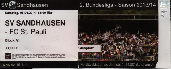 Sandhausen ticket