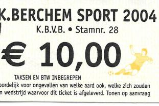 Berchem Sport ticket