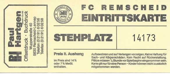 FC Remscheid ticket