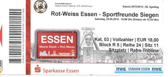 Rot-Weiss Essen ticket