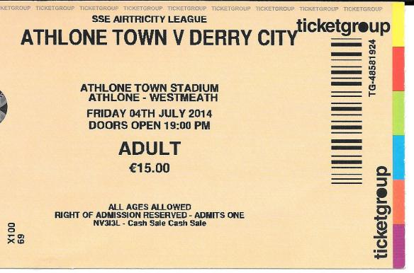 Athlone ticket