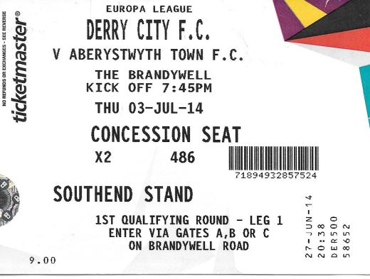 Derry ticket