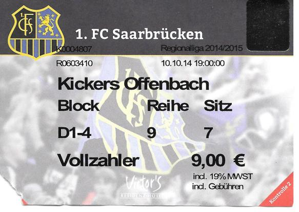 Saar ticket