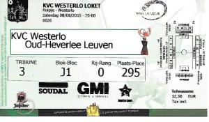 Westerlo ticket