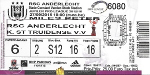 Anderlecht ticket