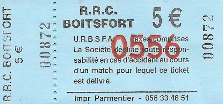 Boitsfort ticket