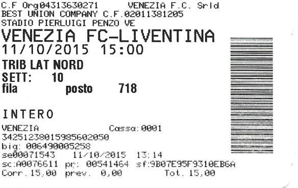 Venezia ticket