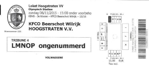 Beerschot ticket