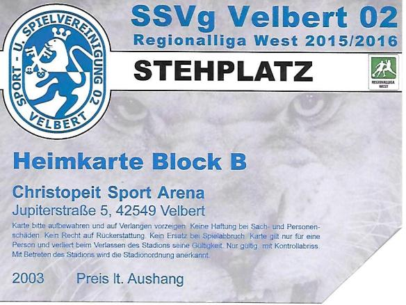 Velbert ticket