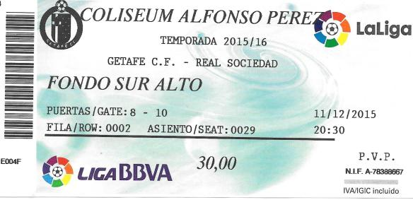 Getafe ticket