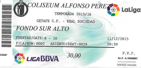 Getafe ticket