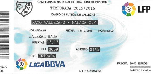 Rayo ticket