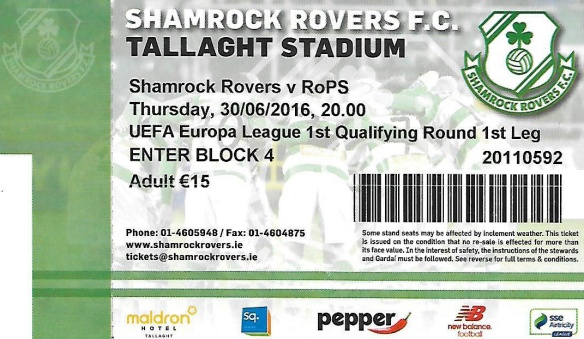 Shamrock ticket