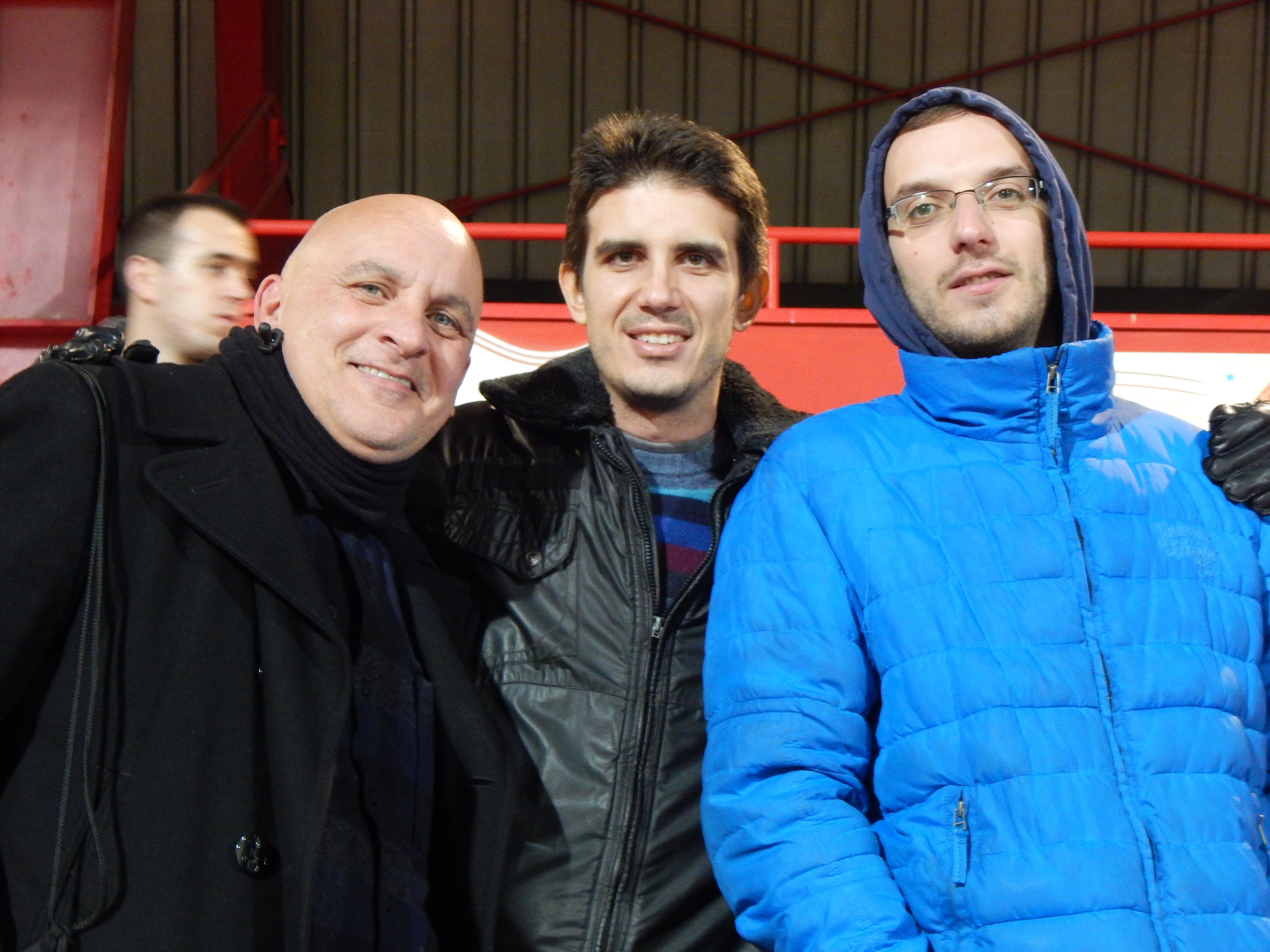 Steve Carpenter Bogdan Mitrovic and Aleks Pekovic left to right
