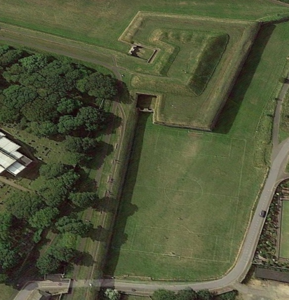 Google Earth showing the pitch and ramparts