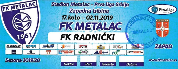 Metalac ticket